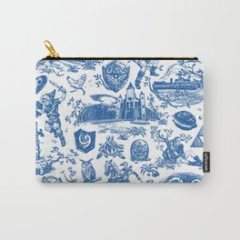"""Zelda """"Hero of Time"""" Toile Pattern - Zora's Sapphire Carry-All Pouch"""