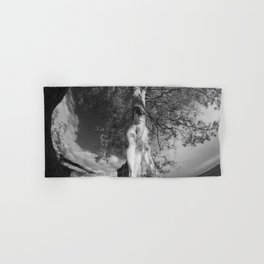 9102-LP Tree of Life Nature Goddess Earth Mother One with the Tree BW Fine Art Nude Hand & Bath Towel