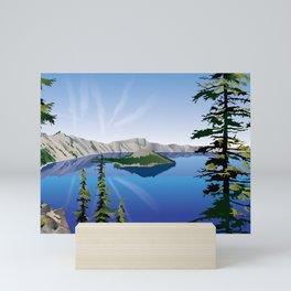 Crater Lake National Park Mini Art Print