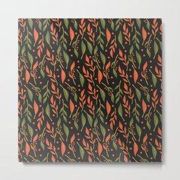 Vintage Floral Pattern 011 Metal Print