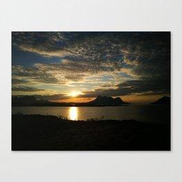 Sunset in Steigen Canvas Print
