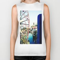 ferris wheel Biker Tanks featuring Ferris Wheel by Kim Ramage