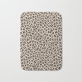 BLACK and WHITE LEOPARD PRINT – Ecru | Collection : Leopard spots – Punk Rock Animal Prints. Bath Mat