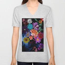 Colorful Fractal Flowers Unisex V-Neck