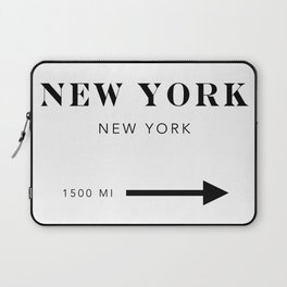 New York New York City Miles Arrow Laptop Sleeve