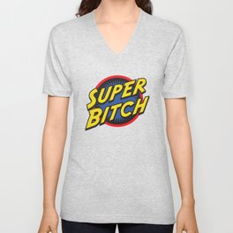 Retro Super Bitch Unisex V-Neck