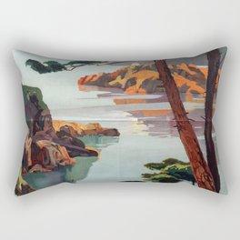 Vintage poster - La Corse, France Rectangular Pillow