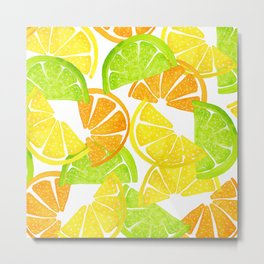 Citrus Slices - Lemon Lime Orange Metal Print