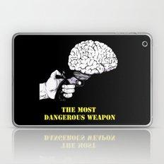 THE MOST DANGEROUS WEAPON (Black) Laptop & iPad Skin