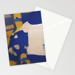 blue yellow and white Stationery Cards