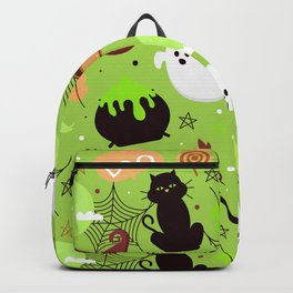 Halloween Black Cat Kitty Boo Backpack