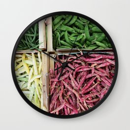 Beans of various colors Wall Clock