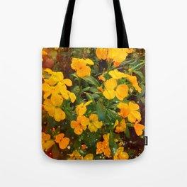 Golden Wallflowers Tote Bag