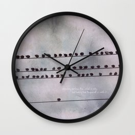 Stand Out From The Crowd Wall Clock