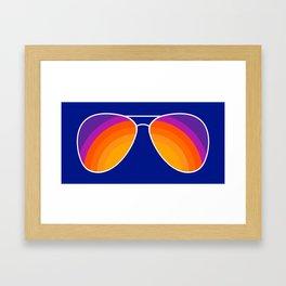 Rainbow Shades Framed Art Print
