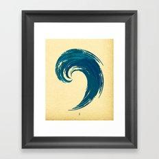 - blue 'davy jones' wave - Framed Art Print