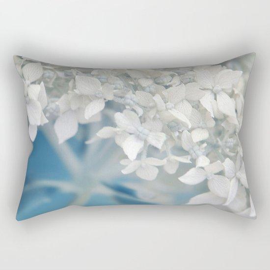 Beautiful White Hydrangea 276 Rectangular Pillow