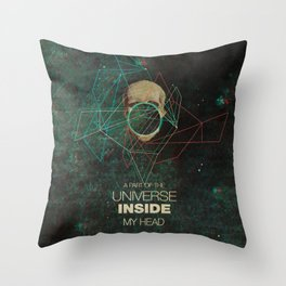 A Part Of The Universe Inside My Head Throw Pillow