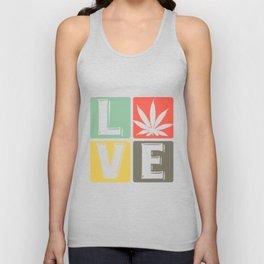 Cannabis Marijuana - Weed Love Unisex Tank Top