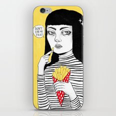 Don't eat my fries iPhone & iPod Skin