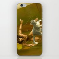greg guillemin iPhone & iPod Skins featuring Greg, by Crom! by Portable City Illustration