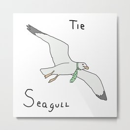 Tie Seagull Metal Print