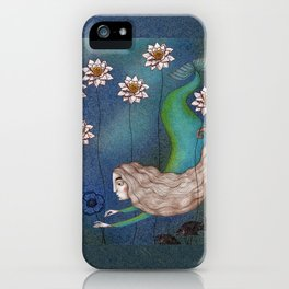 The Mermaid's Lake--Finding the Blue Flower iPhone Case