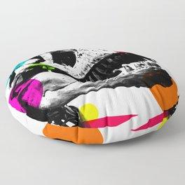 tyrannosaurus with abstract patterns Floor Pillow