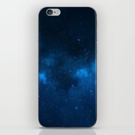 Fascinating view of the blue cosmic sky iPhone Skin