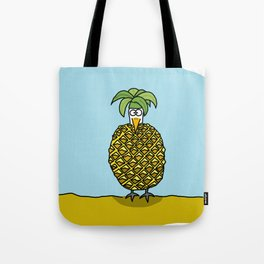 Egantine la poule (the hen) dressed up as a pineapple Tote Bag