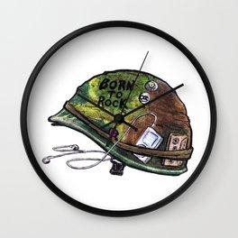 """Born to Rock"" by Cap Blackard Wall Clock"