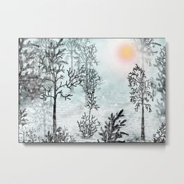 Winter in the woods . Metal Print