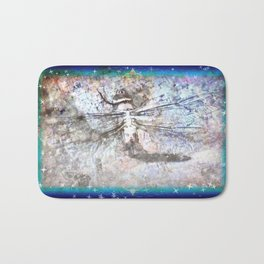 Dragonfly Charts Her Course Among the Stars Bath Mat
