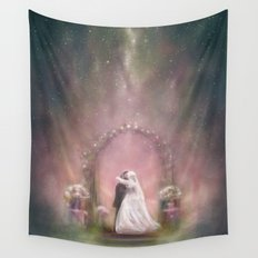 A Happy Beginning Wall Tapestry