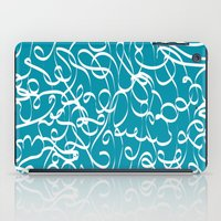 crossfit iPad Cases featuring @NEW Modern Ribbon | Teal by Joel M Young