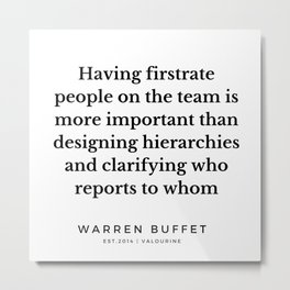 57 | Warren Buffett Quotes | 190823 Metal Print