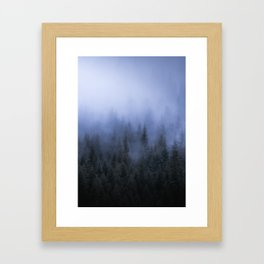 Foggy Forest Gerahmter Kunstdruck