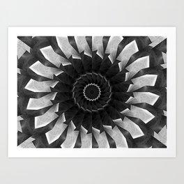 Gray Kaleidoscope Art 8 Art Print