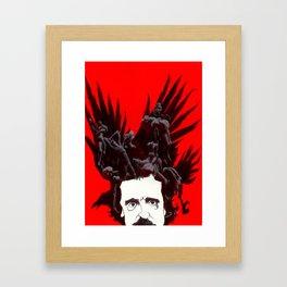 Crow-headed Poe Framed Art Print