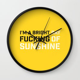 RAY OF SUNSHINE Wall Clock