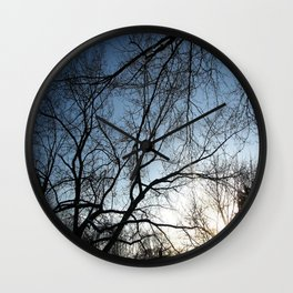 End of Another Day Wall Clock