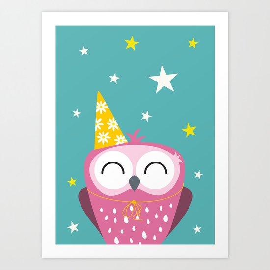 Party Owl Art Print