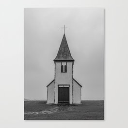 Old Church in Iceland Canvas Print