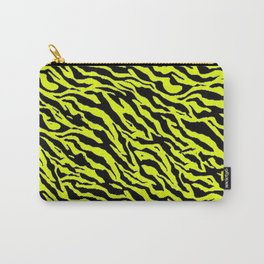 Yellow Zebra Stripe Animal Pattern Print Carry-All Pouch
