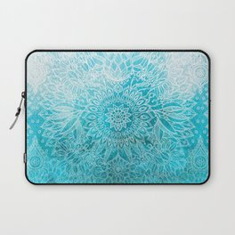 Fade to Teal - watercolor + doodle Laptop Sleeve