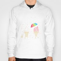 sprinkles Hoodies featuring Cloudy With A Chance of Sprinkles by Monica Gifford