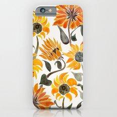 Sunflower Watercolor – Yellow & Black Palette Slim Case iPhone 6s