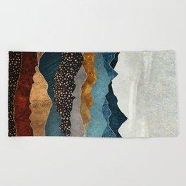 Amber Dusk Beach Towel
