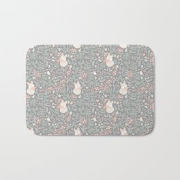 Sleeping Fox - grey pattern design Bath Mat