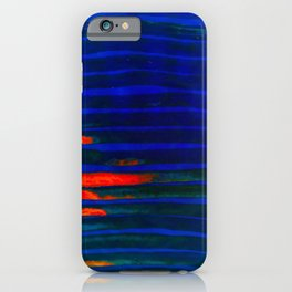 Midnight Blue Lava Lines, Our Earth Burn Marks iPhone Case
